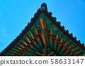 Korean traditional roof 58633147