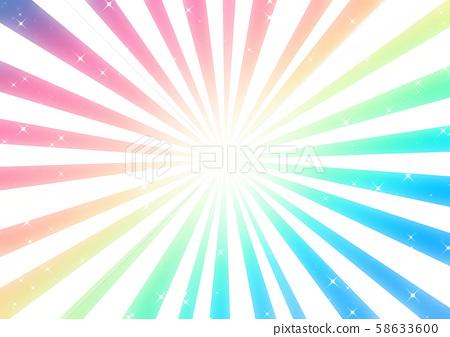 彩虹顏色的放射狀背景 58633600