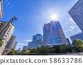 目黑河沿岸的風景佈滿辦公樓 58633786