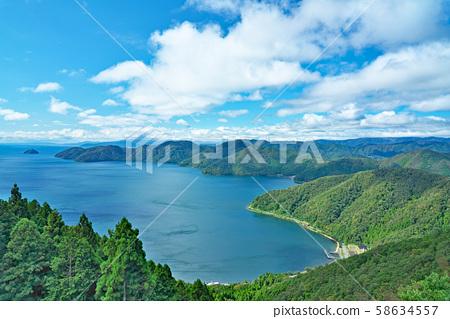 [賤ヶ岳 정상 전망대에서 비와코] 시가현 나가 하마시 키노 모토 쵸 飯浦 58634557