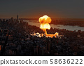 Nuclear explosion in the city. 58636222