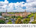 Seville, Spain cityscape with Plaza de Espana 58641178