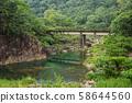 old abandoned stone bridge 58644560