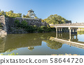 Osaka Castle Temple and the castle tower 58644720
