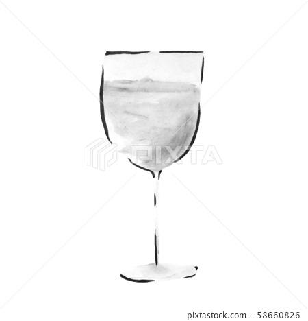 White wine (hand-drawn illustration of ink) 58660826