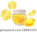 허니 레몬 수채화 풍 58664393
