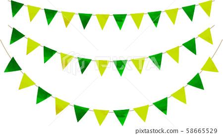Flag_Triangle_Garland_Watercolor_Yellow Green_Green 58665529