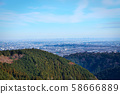 Tokyo cityscape seen from Mt. Takao's trail 58666889