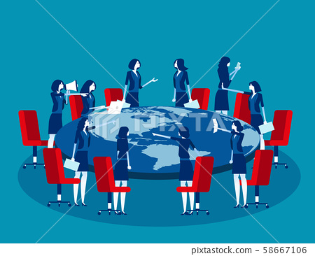 Global business meeting. Concept business vector 58667106