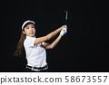 골프 골퍼 여성 58673557