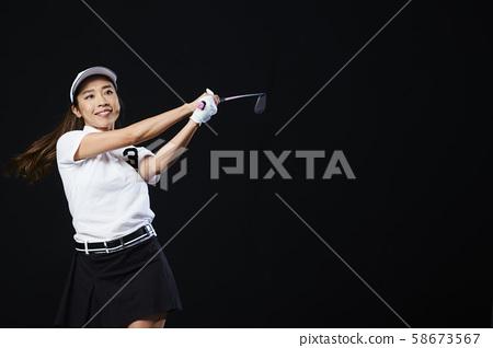 高爾夫高爾夫球手女人 58673567