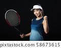 여자 테니스 테니스 선수 여성 58673615