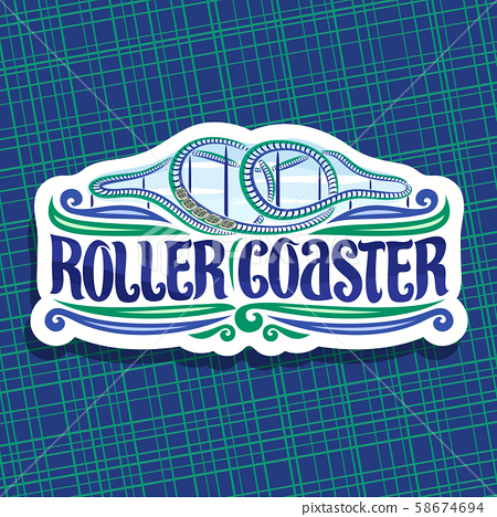 Vector logo for Roller Coaster 58674694