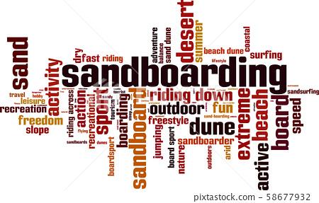 Sandboarding word cloud 58677932