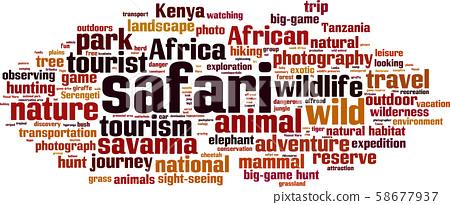 Safari word cloud 58677937