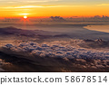 Sunrise from the summit of Mt. Fuji and view of Shonan 58678514