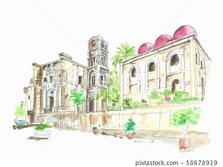 세계 유산 경관 이탈리아 팔레르모의 마르 토라나 교회 58678919