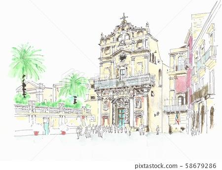 세계 유산 경관 이탈리아 팔레르모의 누오바 문 58679286
