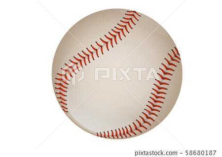 baseball isolated on white background 58680187