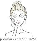 Beauty illustration Hand drawn 03 No background 58688251