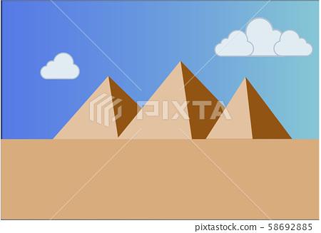 pyramid landscape.vector illustration  58692885