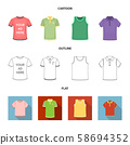 Isolated object of clothes and wear sign. Set of clothes and short stock vector illustration. 58694352