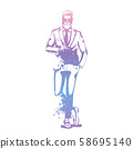 Vector man model 58695140