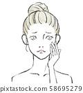 Beauty illustration Hand drawn 05 No background 58695279