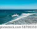 ocean landscape, sea waves on sunny  day with blue 58706350