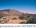 Mountain landscape and volcano Pico del Teide, National Park of Tenerife, Spain 58706470