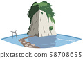 Mitsuke Island image Sightseeing area illustration icon 58708655