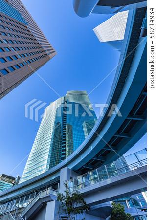 Shiodome Skyscraper Street Scene 58714934