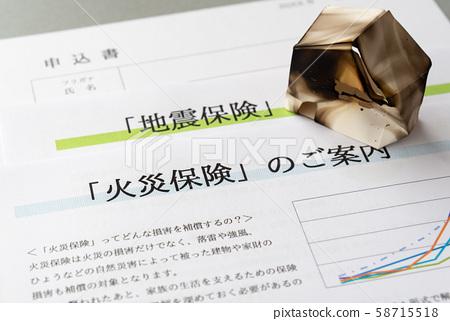 火災保險,地震保險,非人壽保險,賠償保險產品 58715518