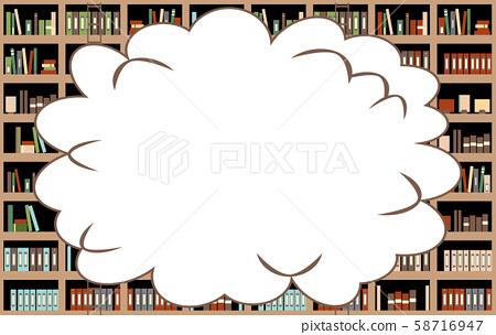 插座書櫃背景 58716947