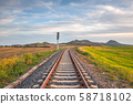 Single railway tracks in Central Bohewmian 58718102