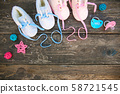 2020 new year written laces of children's shoes 58721545