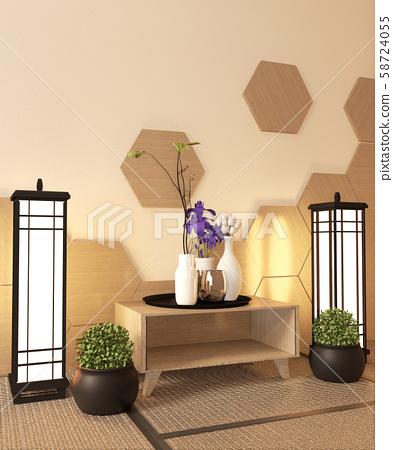 Japanese Ryokan Living Room Zen Style Stock Illustration 58724055 Pixta