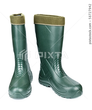 rubber boots on a white background 58727942