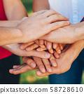 true friendship togetherness teamwork hand stack 58728610