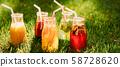 healthy diet organic homemade drink fresh lemonade 58728620