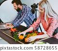 object photo shoot assistant designer vegetables 58728655