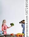 professional food photography woman fresh herbs 58728658