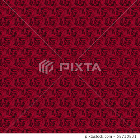 Beautiful red rose background, concept of love day, valentine's day - vector 58730831