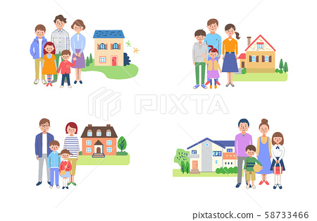 家庭和房子(4套) 58733466