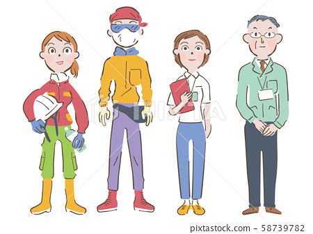 Disaster area volunteer staff illustration 58739782
