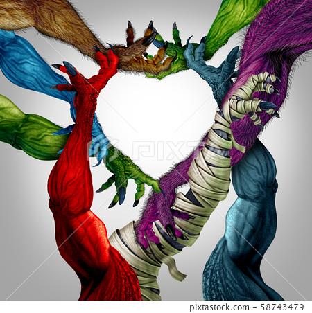 Monster Arm Heart 58743479