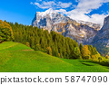 Grindelwald, Switzerland valley and mountains view 58747090