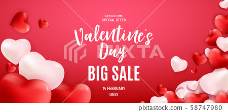 Valentine's Day Love and Feelings Heart Background 58747980