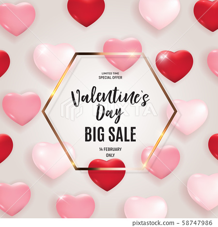 Valentine's Day Love and Feelings Sale Background 58747986