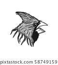 head bird logo design inspiration 58749159